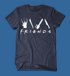 Iconic Horror Movie Villains Friends Parody Men's/Unisex T-Shirt in Navy