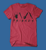 Iconic Horror Movie Villains Friends Parody Men's/Unisex T-Shirt in Red