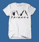 Iconic Horror Movie Villains Friends Parody Men's/Unisex T-Shirt in White