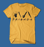 Iconic Horror Movie Villains Friends Parody Men's/Unisex T-Shirt in Yellow