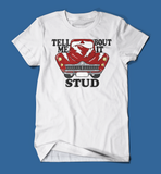 Tell Me 'Bout it Stud Grease Men's/Unisex T-Shirt in White