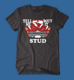 Tell Me 'Bout it Stud Grease Men's/Unisex T-Shirt in Black