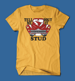 Tell Me 'Bout it Stud Grease Men's/Unisex T-Shirt in Yellow