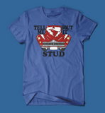 Tell Me 'Bout it Stud Grease Men's/Unisex T-Shirt in Blue