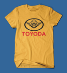 Toyoda Funny Star Wars Parody Men's/Unisex T-Shirt in Yellow