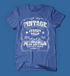 Vintage Style Insert Birth Year Blue T-Shirt