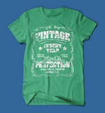 Vintage Style Insert Birth Year Green T-Shirt