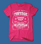 Vintage Style Insert Birth Year Pink T-Shirt