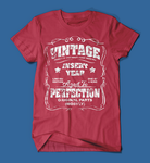 Vintage Style Insert Birth Year Red T-Shirt