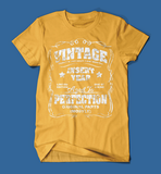 Vintage Style Insert Birth Year Yellow T-Shirt