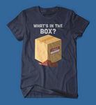 What's in the box Se7en Movie men's/unisex t-shirt in navy