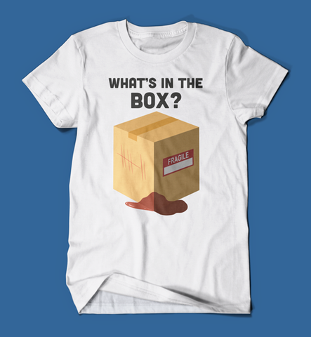 What's in the box Se7en Movie men's/unisex t-shirt in white