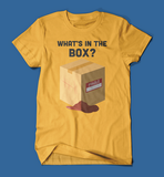 What's in the box Se7en Movie men's/unisex t-shirt in yellow