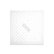 Boston Gray Box Logo Stretch White Bandana - THE LABEL LTD