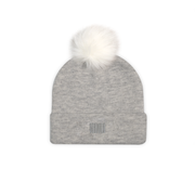 THE BOSTON POM BEANIE GRAY - THE LABEL LTD