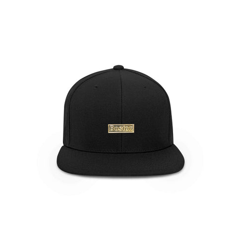 THE BOSTON HAT - IV BOSTON GOLD BOX BAR SNAPBACK HAT