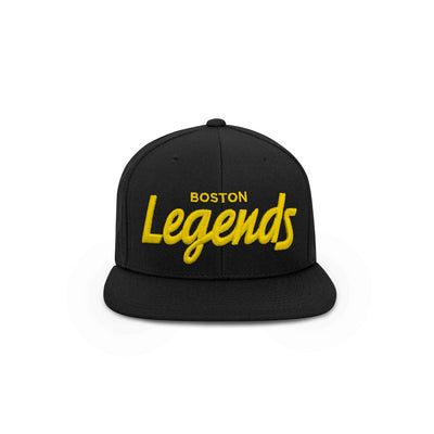THE BOSTON LEGENDS HAT (BLACK AND GOLD)