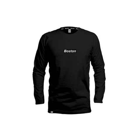 Boston Box Logo Black Long Sleeve - THE LABEL LTD