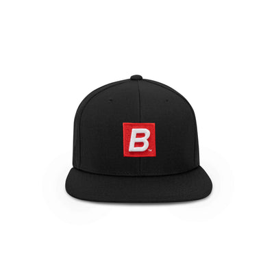 BLACK RED BOX B SNAPBACK - THE LABEL LTD