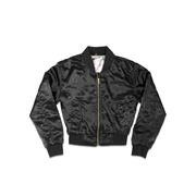 Ladies Black BOS Flight Jacket - THE LABEL LTD