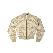 Ladies Gold BOS Flight Jacket - THE LABEL LTD
