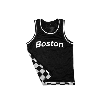 Boston Black & White Checker Jersey - THE LABEL LTD