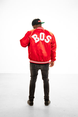 Red BOS Flight Jacket - THE LABEL LTD