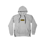 Boston SIDE ZIP® Gray Hoodie - THE LABEL LTD