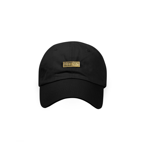 Black Boston Gold Bar Dad Hat - THE LABEL LTD