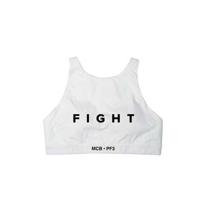 MCB / PF3 SPORTS BRA WHITE - THE LABEL LTD