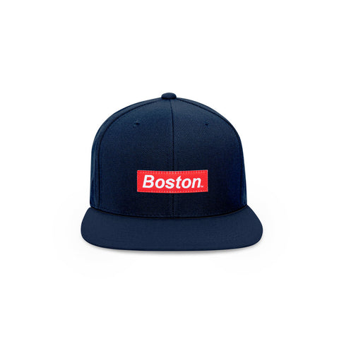 The Boston Hat- IVBoston Box Logo Snapback Hat - THE LABEL LTD