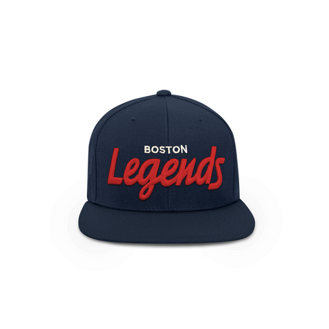 THE BOSTON LEGENDS HAT (NAVY AND RED)