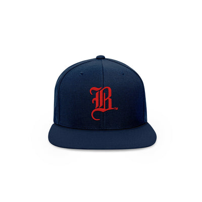 The OG B - Navy Snapback Hat - THE LABEL LTD