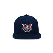 The Boston Hat- Navy PATSET Snapback - THE LABEL LTD
