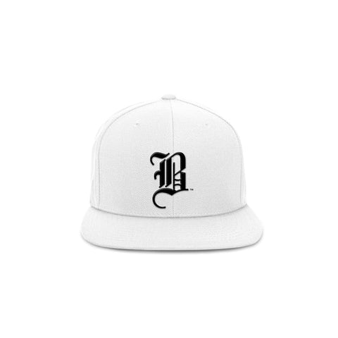 The OG B - White Snapback Hat - THE LABEL LTD
