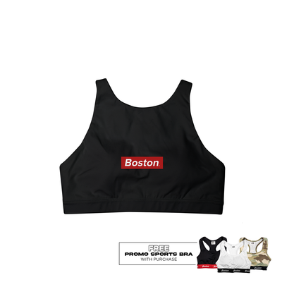 Boston Black Sports Bra - THE LABEL LTD