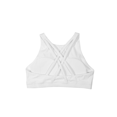 Boston White Sports Bra - THE LABEL LTD
