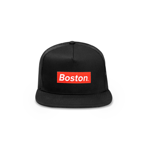 Red Box Logo Trucker Hat - THE LABEL LTD