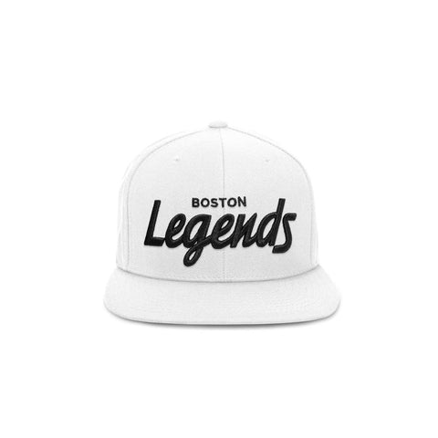 THE BOSTON LEGENDS HAT (WHITE AND BLACK)