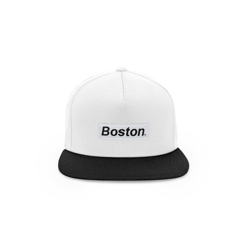 The Boston Hat - Two Tone Box Logo Snapback - THE LABEL LTD