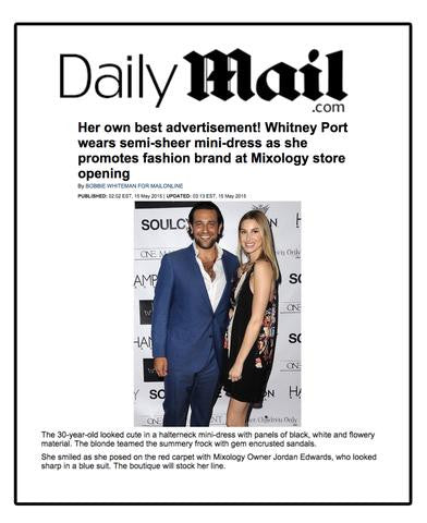 Mixology in Daily Mail