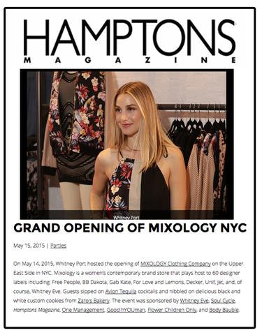 Mixology in Hamptons Magazine