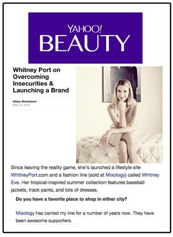 Mixology in Yahoo Beauty