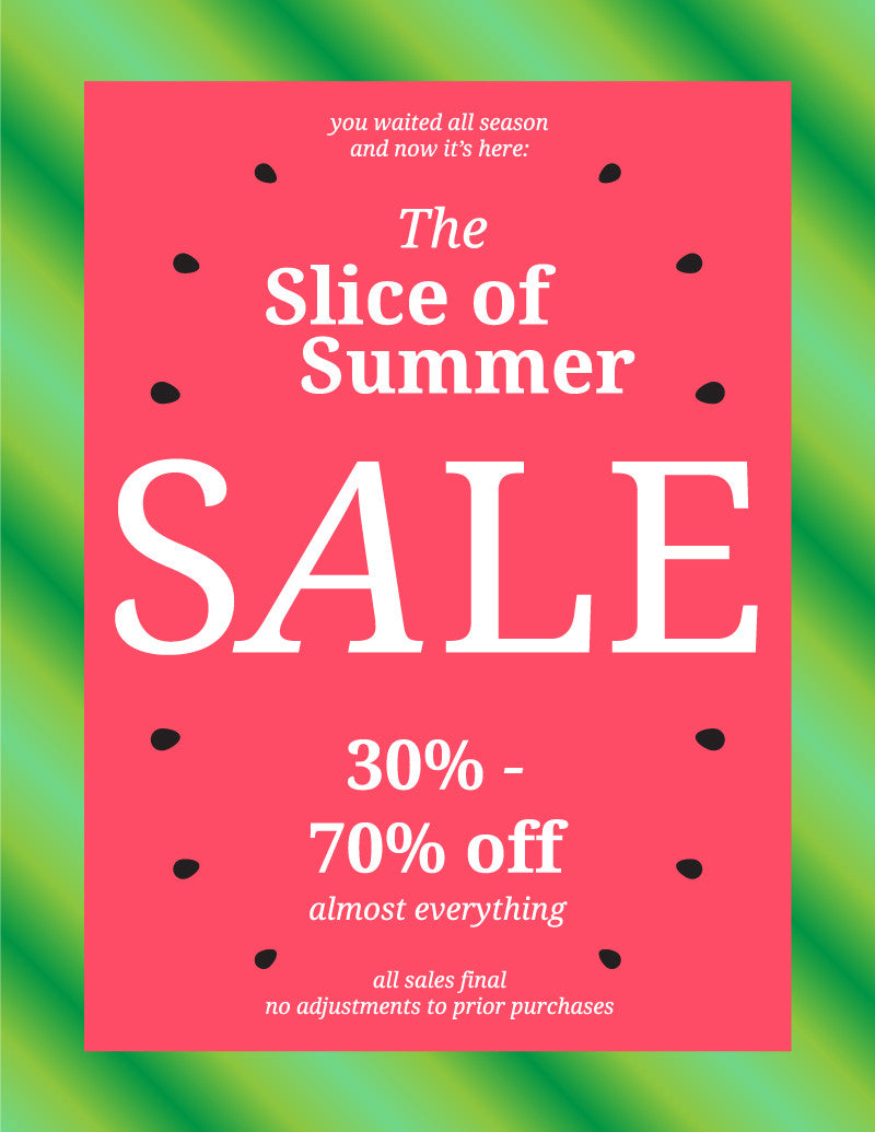 The Slice of Summer SALE