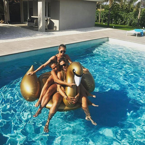 SunnyLife Gold Swan Luxe Float