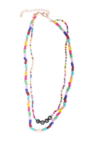 Zoe Belle Double Bead Love Necklace
