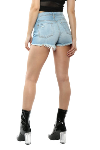 Flying Monkey Rose Embroidered Cut Off Shorts