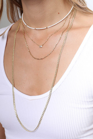 Zoe Belle Two Tone Long Link Necklace