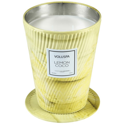 Voluspa Lemon Coco Ice Cream Cone Candle