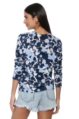 Decker Luxe Watercolor Distressed Sweater